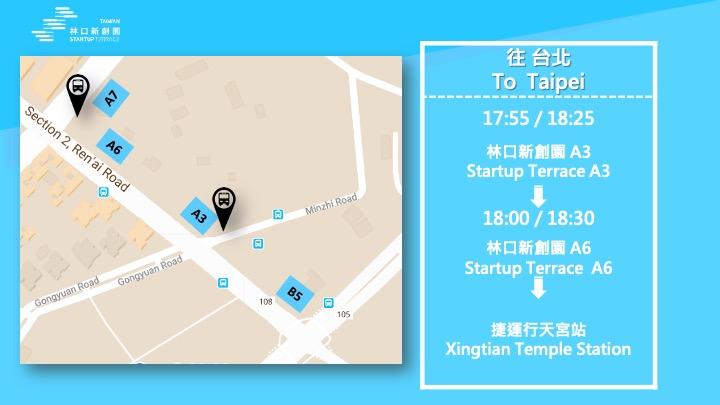 shuttle  bus to Taipei