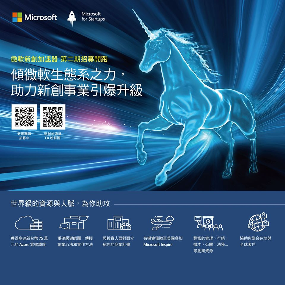 Microsoft for Startups, Taipei Batch Two is Recruiting NOW!!