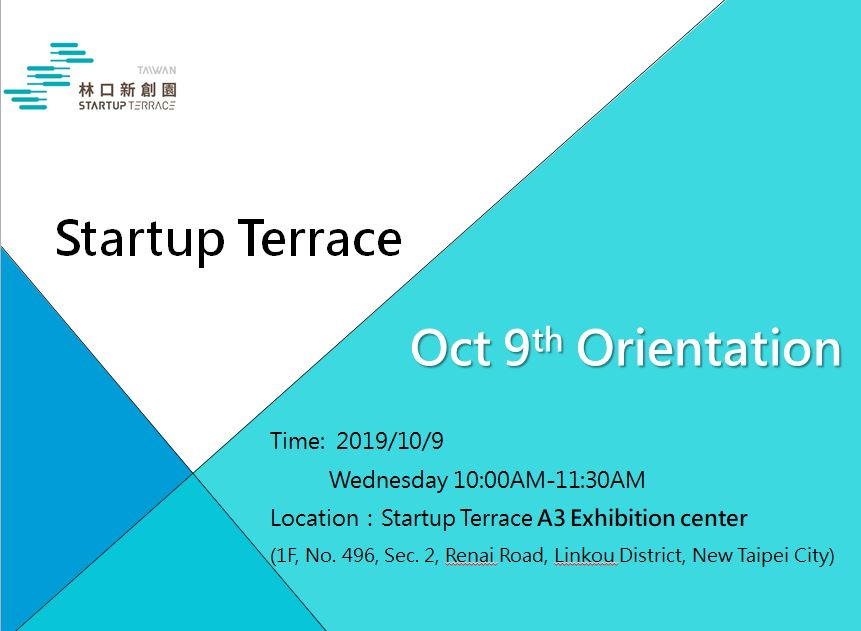 10/9 Startup Terrace Residency Orientation (Final Round)