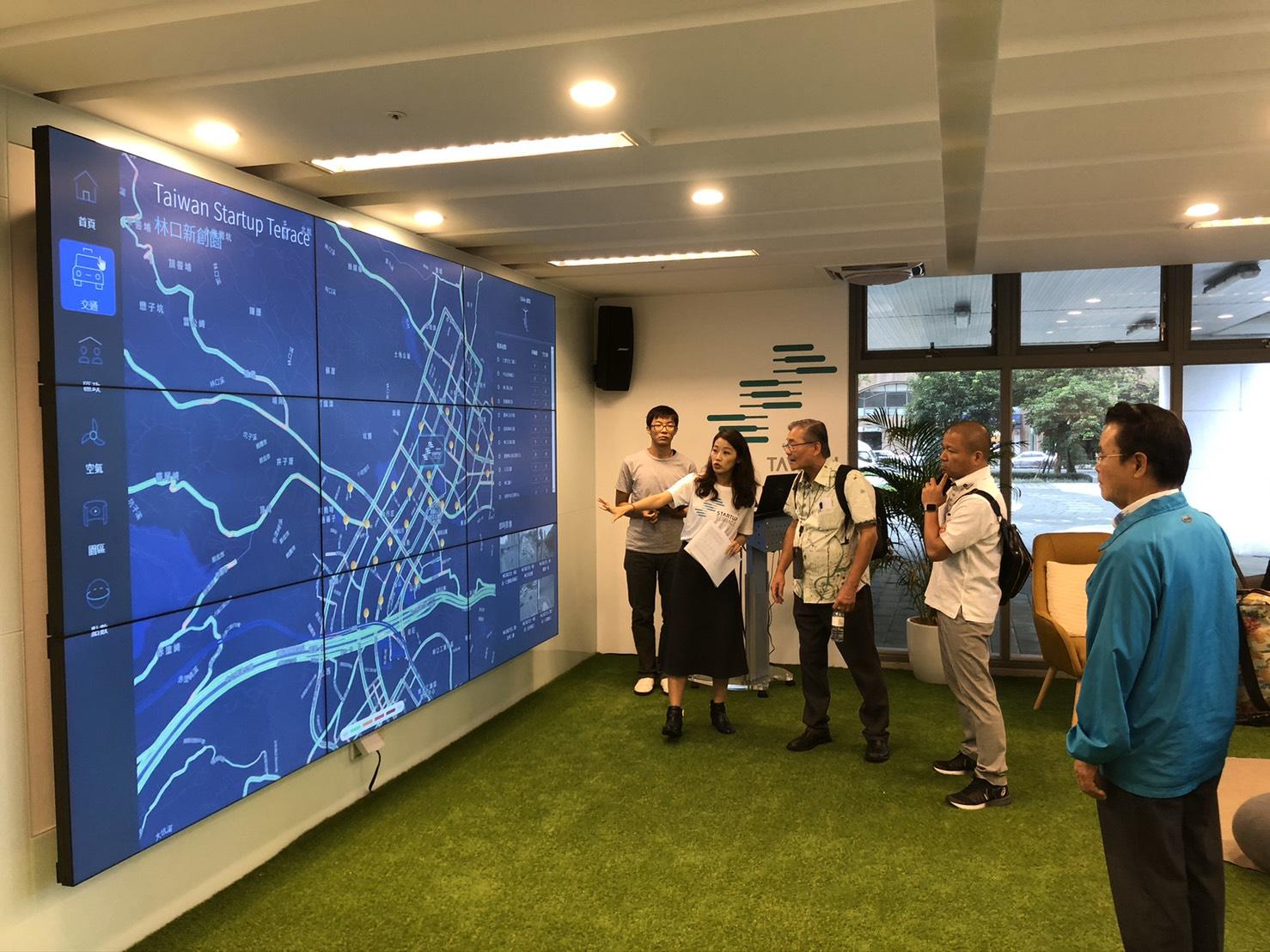 Orientation tour in Startup Terrace
